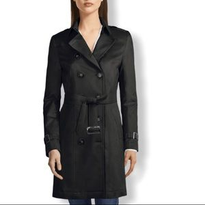 Tommy Hilfiger Double Breasted Black Trench Coat